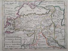 1732 Herman Moll Mapa Turkey in Asia or Asia Minor Map Türkiye Cumhuriyeti++++++