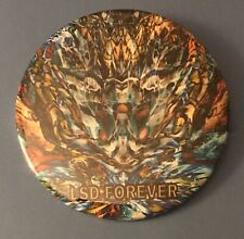 LSD Forever Pin Button Tribute To LSD Tripping Mind Expansion Psychedelic Art
