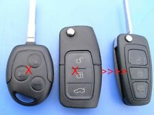 NEW PEAR 3 BUTTON FLIP REMOTE KEY FOB for FORD FOCUS MONDEO B/C/S-MAX  FIESTA++