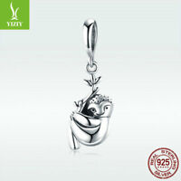 Fashion 925 Sterling Silver Cute Sloth Charm Pendant For Bracelet Chain Jewelry
