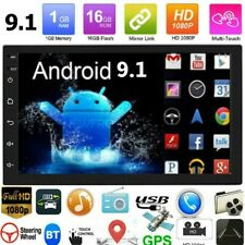 "7"" Android 9.1 2 DIN Autoradio GPS Navi Bluetooth Car Radio 4 Core + Vetro 2.5D"