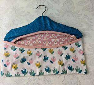 Handmade Fabric Peg Bag Laundry Washing Pretty Pastel Unbranded Wooden 32cm V441