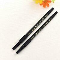 China Double-end Black Ink Marker Soft Brush Marker Writing Fineliner Pen B R8S7