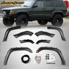 For 84-01 Jeep Cherokee XJ 4-Door 8 PCS Pocket Offroad Wheel Wide Fender Flares