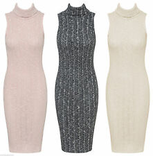 Polyester Cowl Neck Stretch, Bodycon Casual Dresses