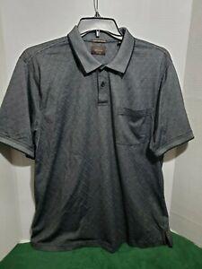 Greg Norman Mens Golf Shirt XL Short Sleeve Polo Casual Pull Over Shark Gray