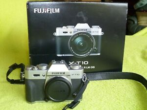 Fujifilm X-T10 16.3MP Digital Mirrorless Camera Body Only-Silver