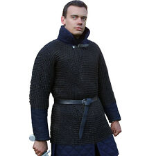 Xl Butted Chainmail Shirt Blackened Chain Mail Armor Haubergeon Collectible
