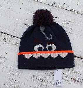 babyGap Boys Blue Monster Beanie Hat Size XS / S 12-24 Months NEW