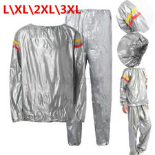 Men Women Sweat Sauna Suit Fitness Loss Weight Exercise Training Tracksuit