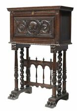 Desk, Spanish Renaissance Revival Vargueno, 1800s, Charming Antique!