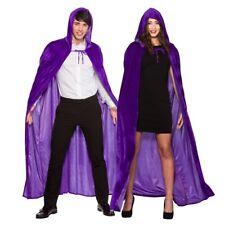 Neuf Médiéval Halloween Velours Femmes Cape à Capuche Hommes Magicien