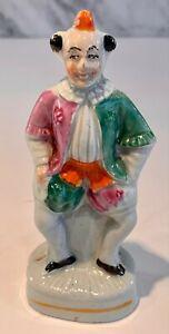Antique Staffordshire Clown Figure 19thC Museum Item