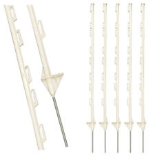 WHITE PLASTIC FENCING PINS POSTS STAKES 1m high for Temporary Event Fencing x 20