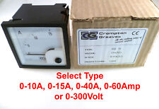 Crompton Greaves EQ 72 Moving Iron Meter Selection OM0244f