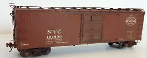 NYC New York Central Westerfield 2901 HO Steel Boxcar Assembled Weathered 101899