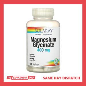 Solaray Magnesium Glycinate 400 Mg (per serve) 120/240 CAPS | AU STOCK FAST POST