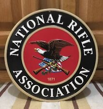 NRA National Rifle Association Gun Rights 2nd Amendment Metal Embossed Pistol