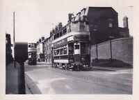 Original real photograph Birmingham 733 & 740 tram tramcar circa 1940 vintage