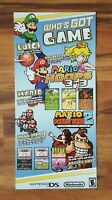 Nintendo DS 2006 Video Game Store Launch Display Sign Mario Luigi Donkey Kong