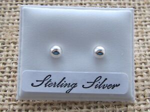 STERLING SILVER BALL EARRINGS [CHOOSE A SIZE] FREE GIFT BOX