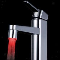 Filto Rubinetto con LED 3 Colori Sensore Temperatura Per Bagno Cucina
