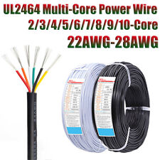 Ul2464 Pvc Power Cable Wire 22awg 28awg Tinned Copper 2345678910core