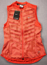 NIKE RUNNING 800 Fill Down AEROLOFT Womens Red Full Reflective Vest NWT XS $280