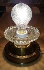 Vintage Brass Fixture & Glass Flush Mount Ceiling Fixture Light Part #1