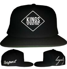 Kings Of NY Loyalty x Respect New York NYC Logo Snapback Black Grey One Size