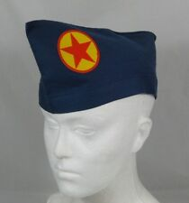 Soviet Russian Pioneer Leader Uniform Pilotka Side Cap Hat USSR Red Star Badge