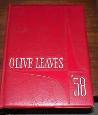 Olive Leaves 1958 Mt. Olive Junior College, Mt. Olive, North Carolina Yearbook