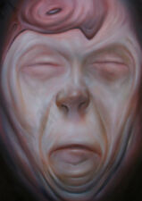 Original Oil Painting ExBarbie Aged Humans Face Strange Man Study Flesh Art