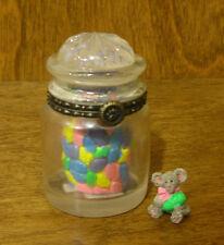 Boyds Treasure Box #4038003 SWEETIE'S CANDY JAR w/ J.B McNIBBLE 1st Ed NEW/Box