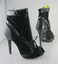 "US WOMEN Size 5   new Black 4.5""Stiletto High Heel Open Toe Sexy Ankle Boot Zip"