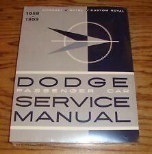 1958 - 1959 Dodge Passenger Car Service Shop Manual 58 59 Coronet Custom Royal