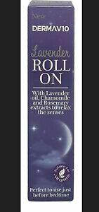 Sleep Well Lavender Roll On DERMA V10 Relax & Calms  Bedtime Sleep Aid Vegan UK