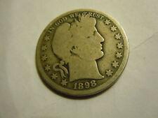 1898 O Barber Half .tough date