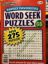 Penny Press Family Favorites Word Seek Puzzles #66 Over 275 Puzzles NEW