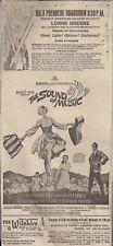 Sound of Music Original 1965 Gala Premiere Los Angeles Examiner Ad
