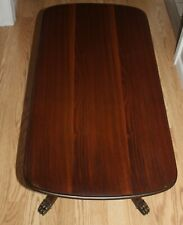 VINTAGE ORNATE SOLID WOOD CLAW FOOTED SMALL COFFEE TABLE FURNITURE 35
