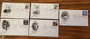 Lot/5 First Day Of Issue Envelope And Stamp 3/2/98, WI, Child Labor, Telephone
