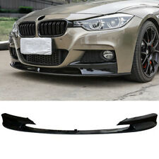 Fit For 2012-2018 BMW F30 3 Series M Sport Front Bumper Lip Spillter Gloss Black