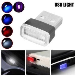 Universal Mini USB LED Wireless Car Interior Light Atmosphere Ambient Lamp New.