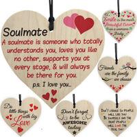 Friendship Love Plaque Sign Wooden Shabby Chic Heart Birthday Christmas Gift UK