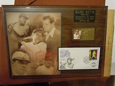 Commemorative Babe Ruth Baseball Limited Edition 100th Anniversary Plaque