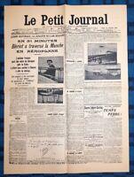 La Une Du Journal Le Petit Journal 26 Juillet 1909 Blréiot À Traverse La Manche