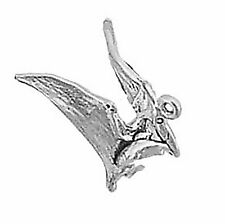 Pterodactyl Dinosaur Charm Sterling Silver Pendant 3d Animal Winged Reptile