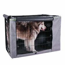 "Petsfit Extra Side Door Polyester Crate Cover for 42"" Luxurious Gray 2 Door Grey"