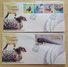 2000 Malaysia Birds Unggas 4v Stamps & MS on 2 FDC (Melaka Cachet)